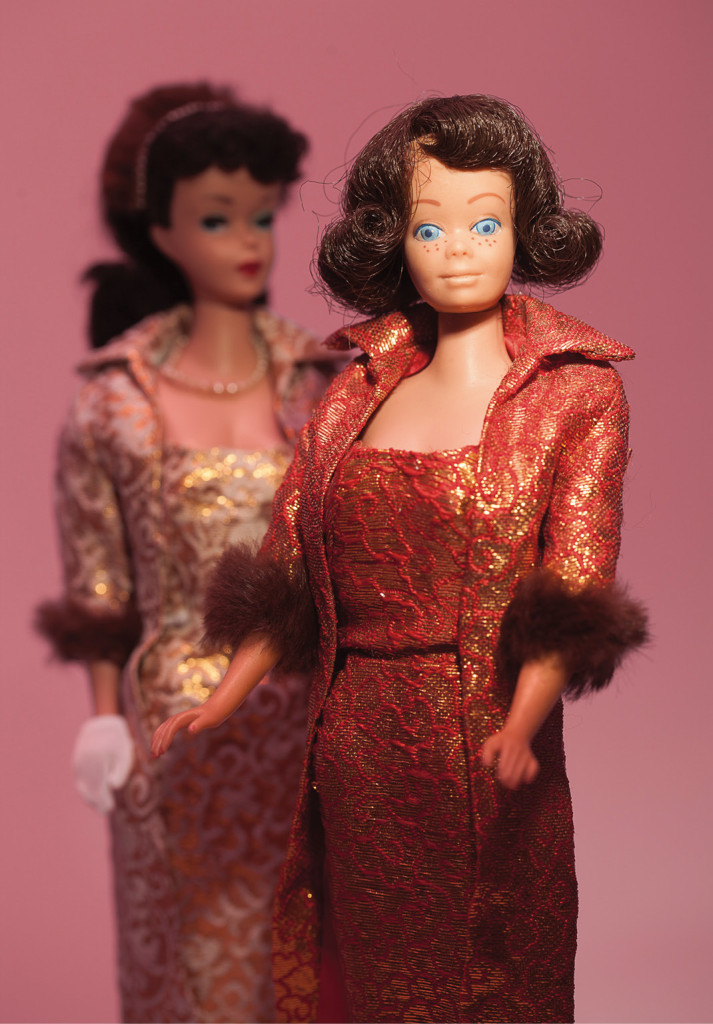 Midge, with an early Barbie.