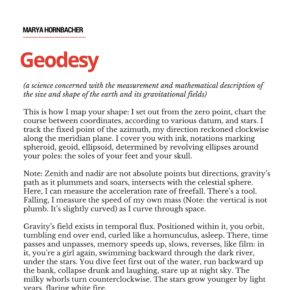"Share This Poem:  ""Geodesy,"" by Marya Hornbacher"