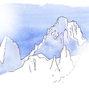 """""""Dream Geographies:  Dream Mountains,"""" by Judith Serin and Masami Inoue."""