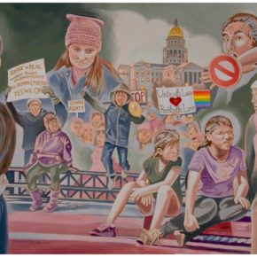 "2017 in Review: ""Unite with Love, Resist with Love,"" and the evolution of a politically motivated painting. By Jonathan Machen."