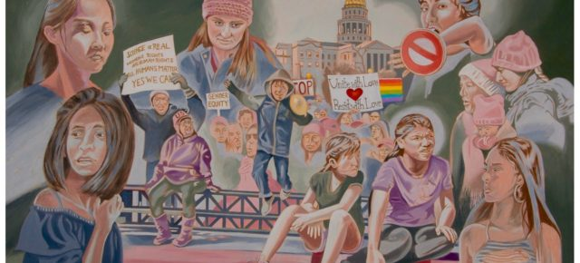 """2017 in Review: """"Unite with Love, Resist with Love,"""" and the evolution of a politically motivated painting. By JonathanMachen."""